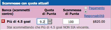 Bancata over 4,5
