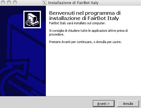 installazione fairbot
